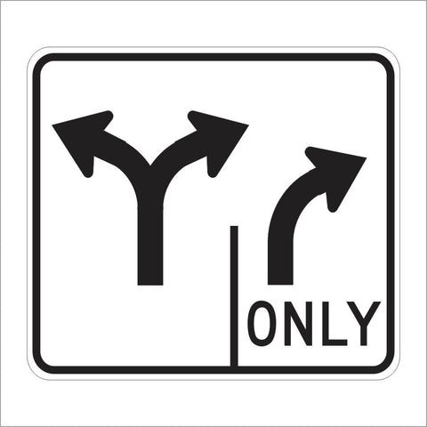 R61-11 (CA) DOUBLE LANE CONTROL RIGHT TURN ONLY SIGN