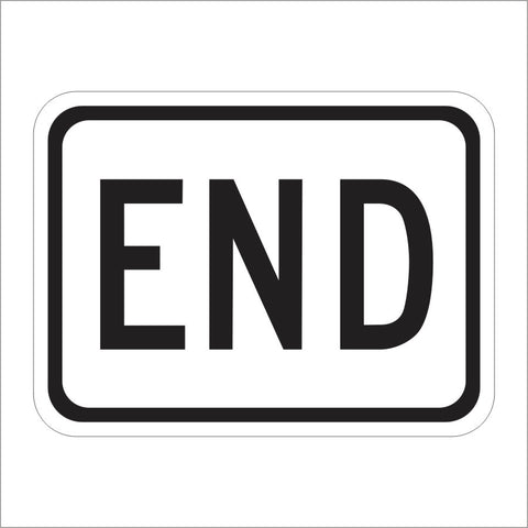R81B (CA) END SIGN