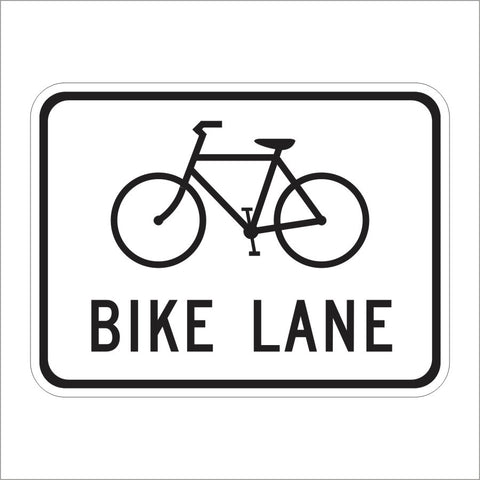 R81 (CA) BIKE LANE SIGN