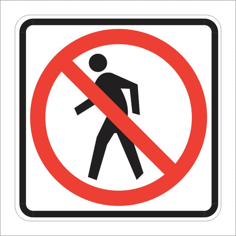 R9-3 NO PEDESTRIANS (SYMBOL) SIGN