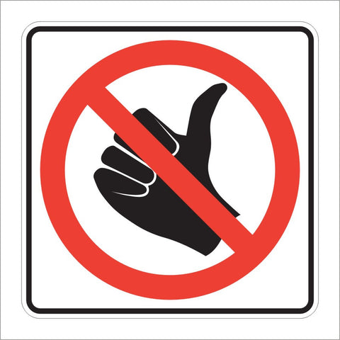R9-4 NO HITCH HIKING (SYMBOL) SIGN