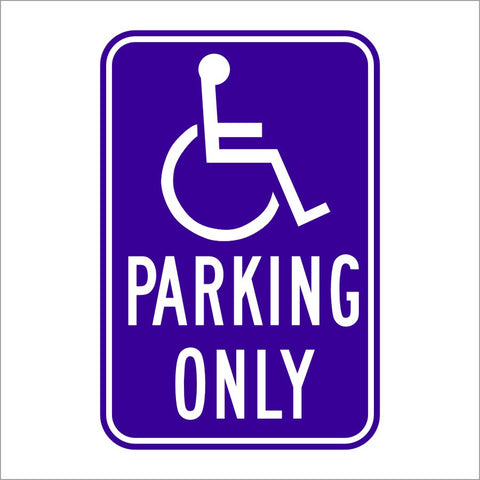 R99 (CA) HANDICAP PARKING ONLY SIGN