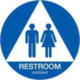 "12"" Unisex Restroom Door Sign"