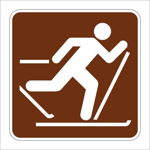 RS-046 COUNTRY SKIING SYMBOL SIGN