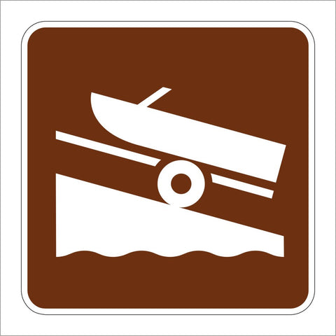 RS-054 BOAT RAMP SYMBOL SIGN