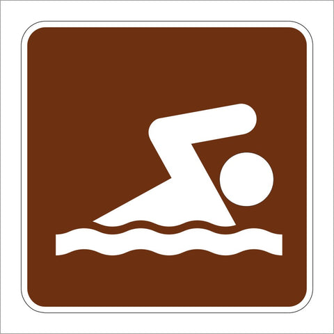 RS-061 SWIMMING SYMBOL SIGN