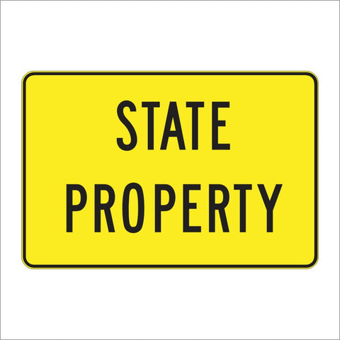 S1-1 (CA) STATE PROPERTY SIGN