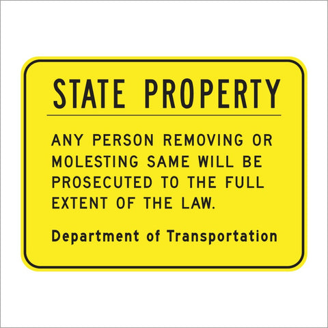 S20 (CA) STATE PROPERTY SIGN
