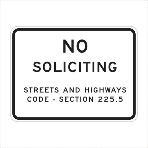 S24 (CA) NO SOLICITING SIGN