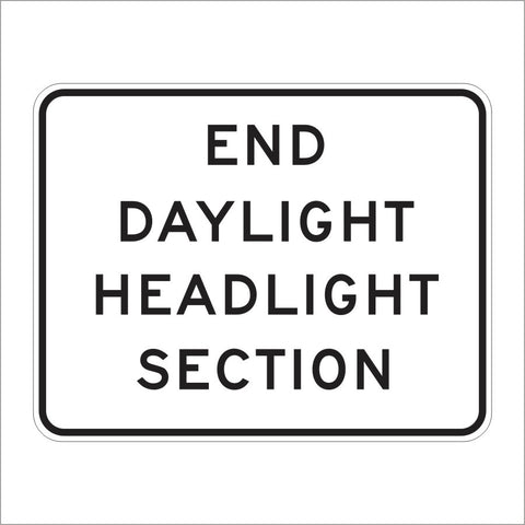 S30-3 (CA) END DAYLIGHT HEADLIGHT SECTION SIGN
