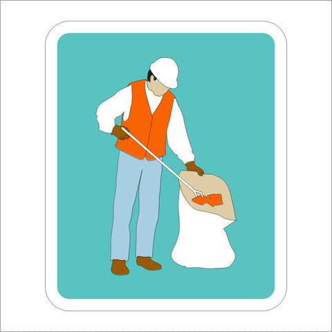 S32-1 (CA) LITTER REMOVAL (SYMBOL) SIGN