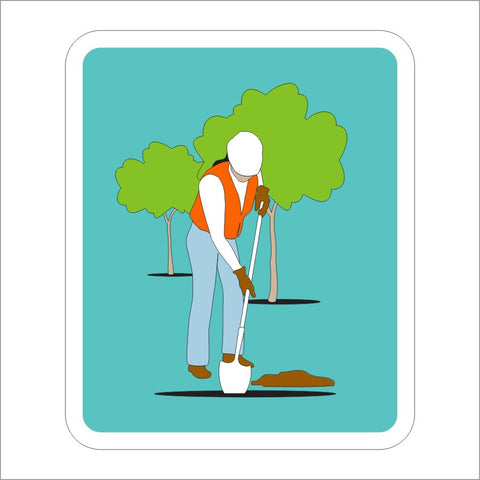 S32-3 (CA) TREE PLANTING (SYMBOL) SIGN