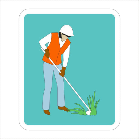S32-5 (CA) VEGETATION CONTROL (SYMBOL) SIGN