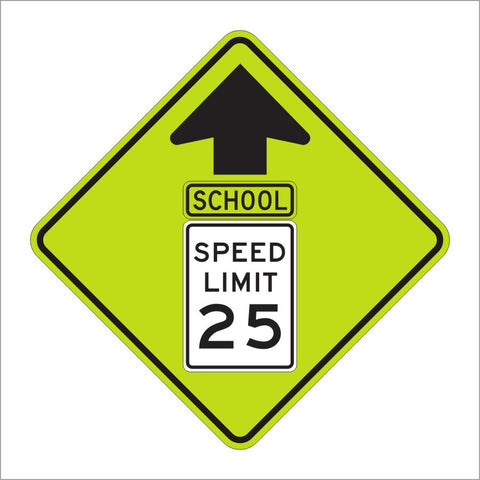 S4-5 School Speed Limit Sign