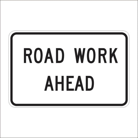 SC10 (CA) ALTERNATE ROAD WORK AHEAD SIGN