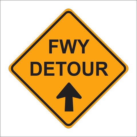 SC9 (CA) ALTERNATE FWY DETOUR SIGN