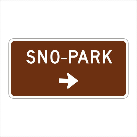 SG32 (CA) SNO-PARK WITH ARROW SIGN