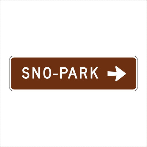 SG33 (CA) SNO-PARK WITH ARROW SIGN