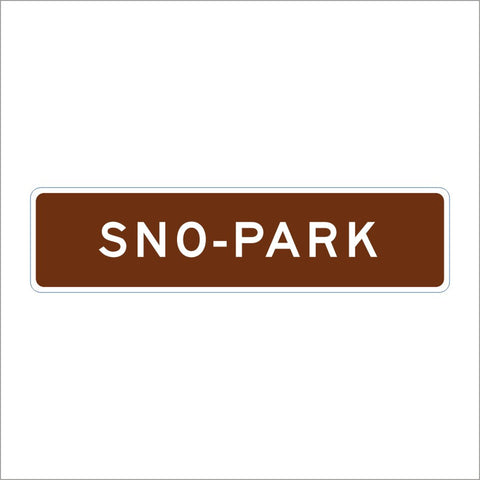 SG34 (CA) SNO-PARK SIGN