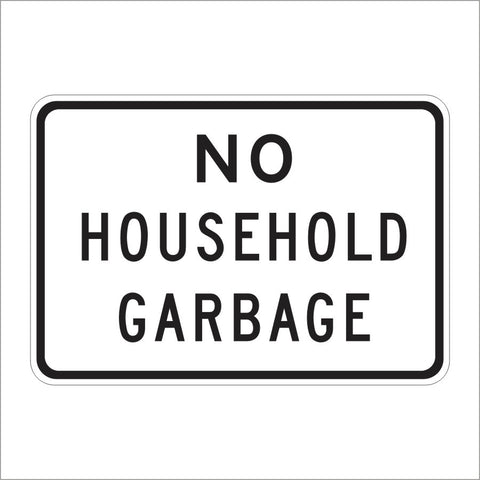 SR23-1 (CA) NO HOUSEHOLD GARBAGE SIGN