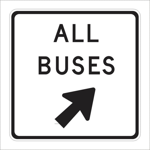 SR42 (CA) ALL BUSES WITH ARROW SIGN