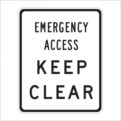 SR46 (CA) EMERGENCY ACCESS KEEP CLEAR SIGN