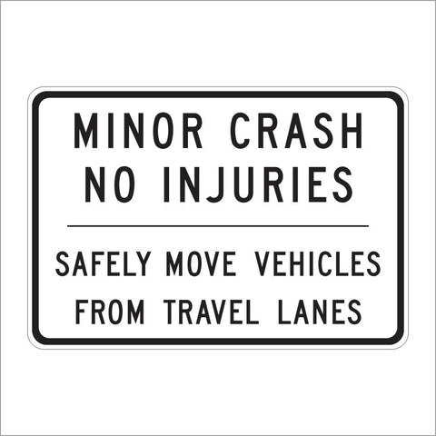 SR61(CA) MINOR CRASH NO INJURIES SIGN