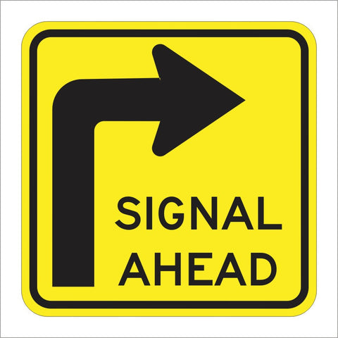 SW26(CA) SIGNAL AHEAD SIGN