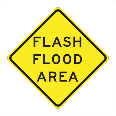 SW35 (CA) FLASH FLOOD AREA SIGN