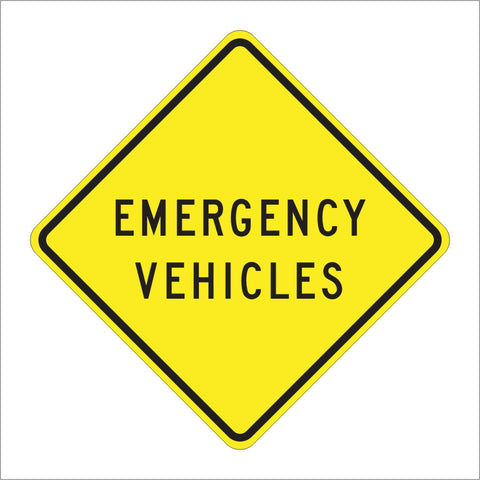 SW52(CA) EMERGENCY VEHICLES SIGN