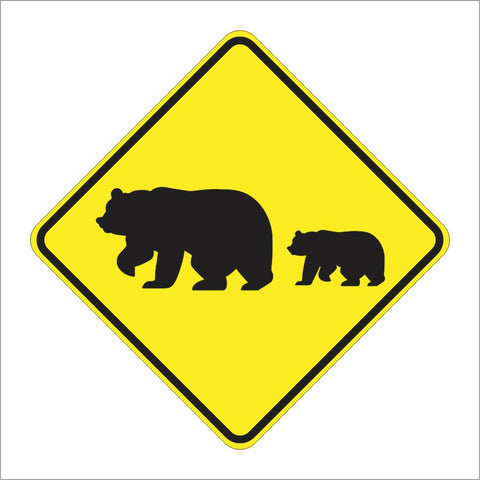 SW59 (CA) MIGRATING BEARS (SYMBOL) SIGN