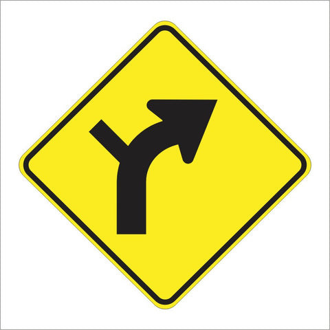 W1-10 HORIZONTAL ALIGNMENT SIGN