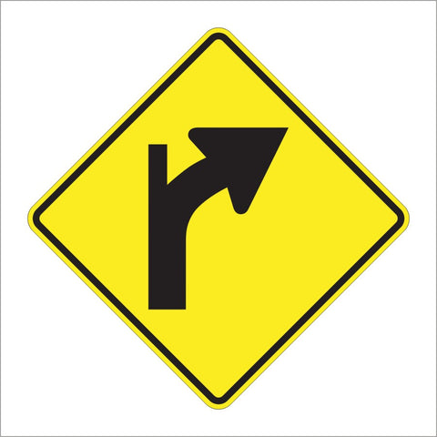 W1-10B COMBINATION HORIZONTAL ALIGNMENT SIGN