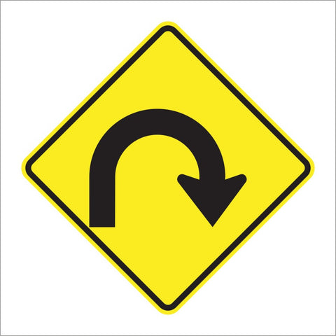 W1-11 HAIRPIN CURVE SIGN