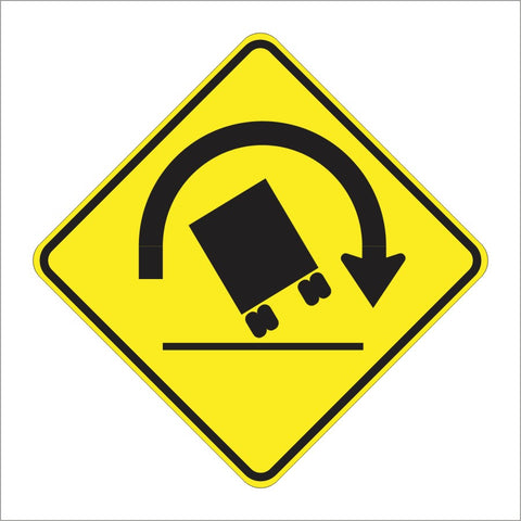 W1-13 TRUCK ROLLOVER SIGN