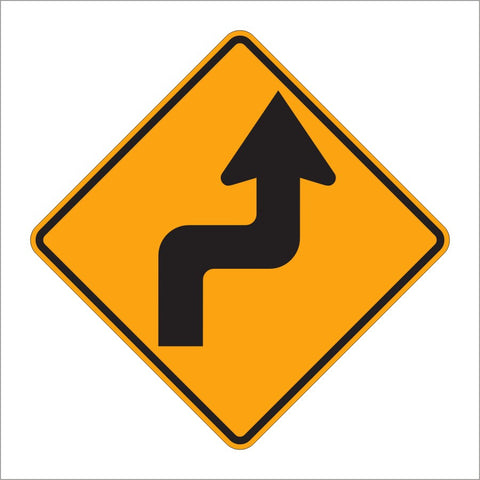 W1-3 REVERSE TURN SIGN