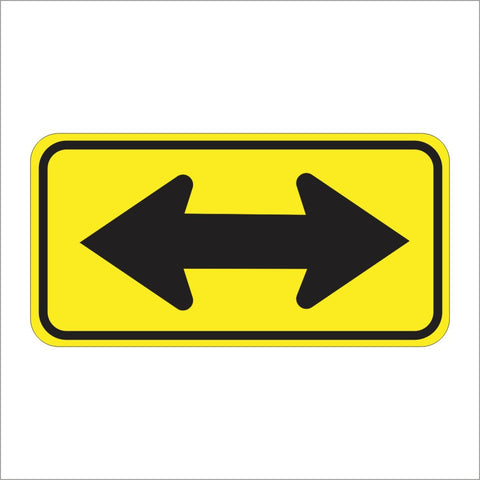 W1-7 LARGE ARROW (TWO DIRECTIONS) SIGN