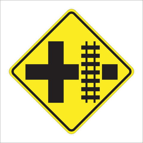 W10-2 PARALLEL RAILROAD CROSSING (CROSSROAD) SIGN