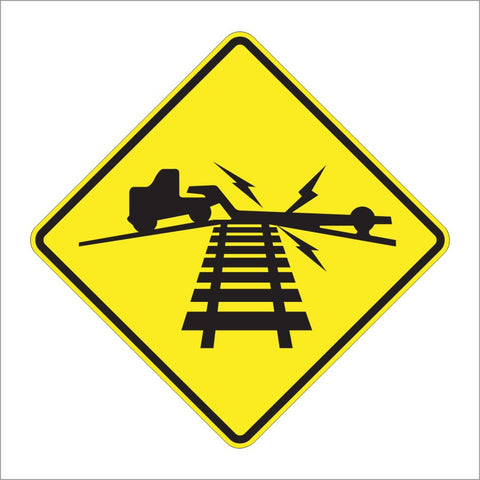 W10-5 LOW GROUND CLEARANCE RAILROAD CROSSING SIGN