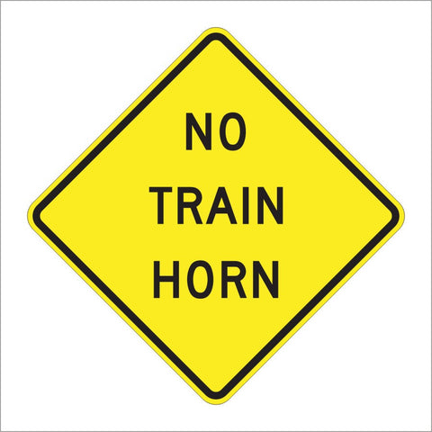 W10-9 NO TRAIN HORN SIGN