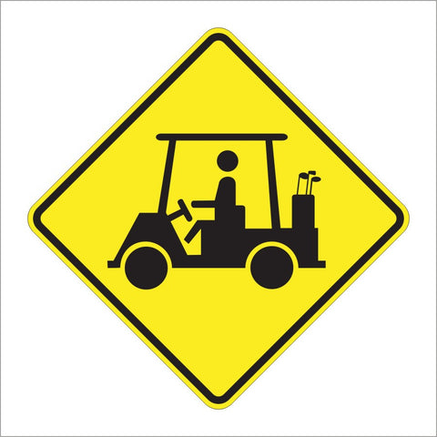 W11-11 GOLF CART SIGN
