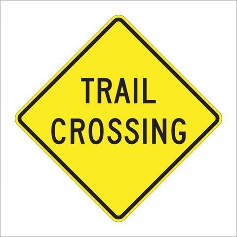 W11-15A TRAIL CROSSING SIGN