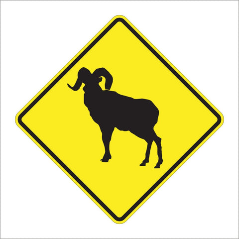 W11-18 BIGHORN SHEEP SIGN