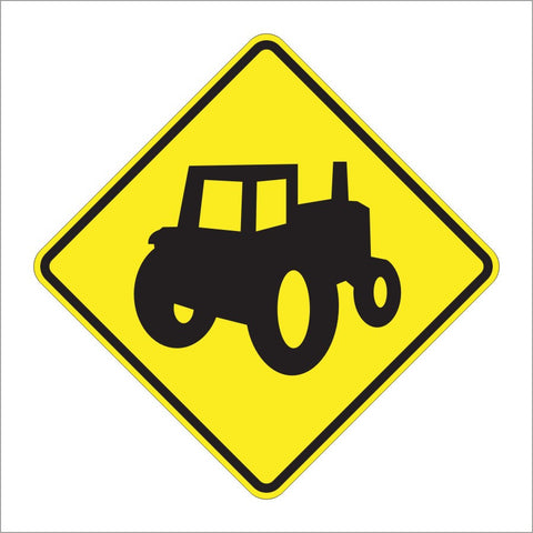 W11-5A FARM MACHINERY (ALT) SIGN