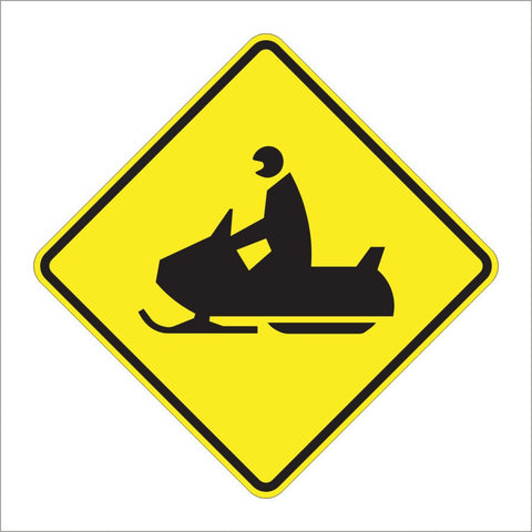 W11-6 SNOWMOBILE SIGN