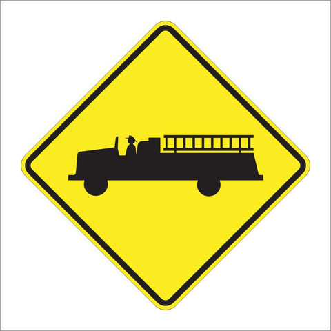 W11-8 EMERGENCY VEHICLE SIGN