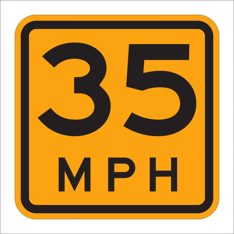 W13-1P ADVISORY SPEED SIGN