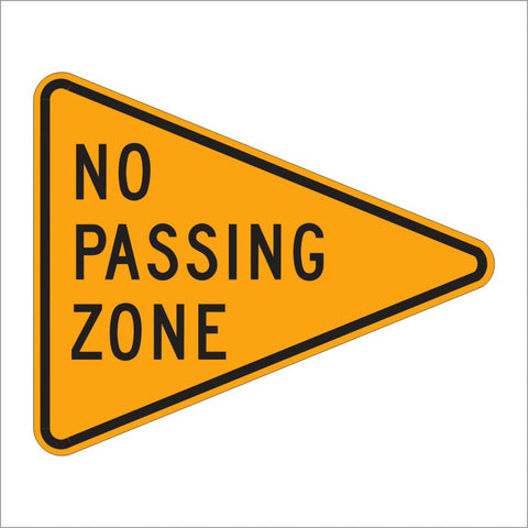 W14-3 NO PASSING ZONE SIGN