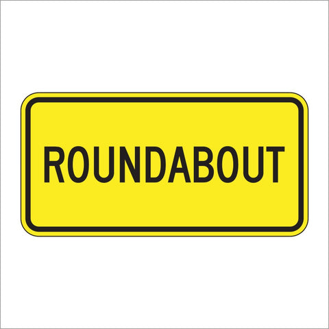 W16-17P ROUNDABOUT SIGN