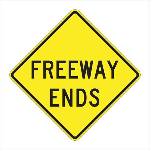 W19-3 FREEWAY ENDS SIGN